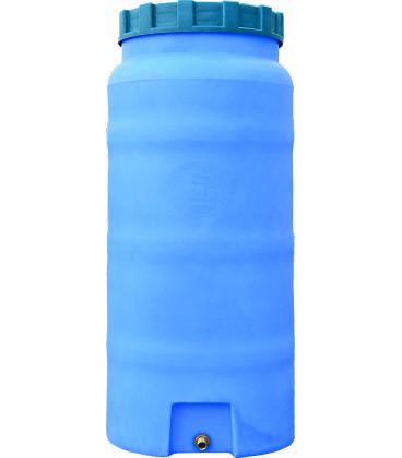 Емкость вертикальная круглая 100 л син