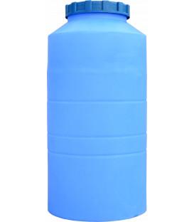 Емкость вертикальная круглая 250 л син