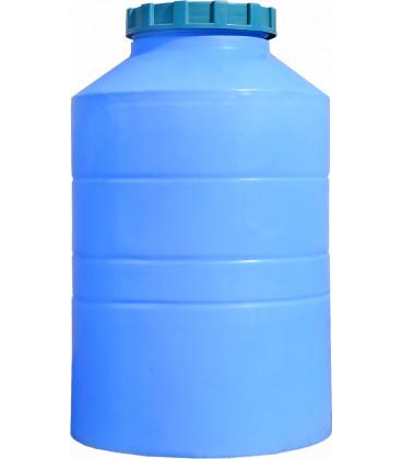 Емкость вертикальная круглая 300 л низ син
