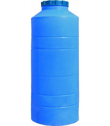 Емкость вертикальная круглая 400 л син