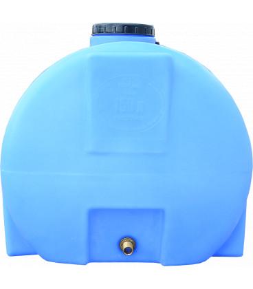 Емкость горизонтальная круглая 150 л син