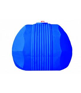 Емкость горизонтальная круглая 500л син