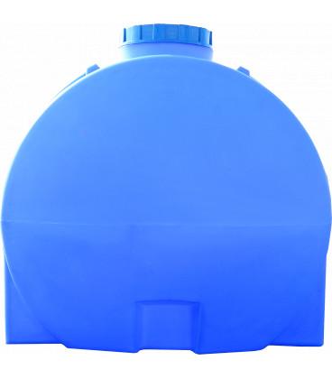 Емкость горизонтальная круглая 3000 л син